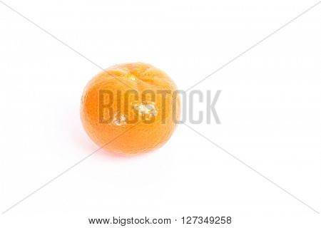 Tangerine on a white background