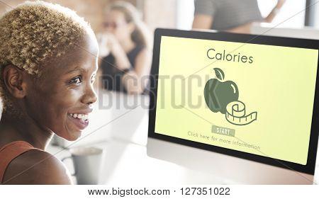 Calories Diet Energy Food Beverage Nutrition Concept