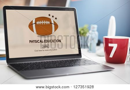 Physical Education Sport Rugby Ball Concept