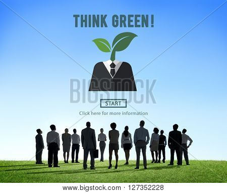 Think Green Ecology Environmental Conservation Concept
