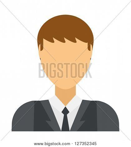 Flat vector avatar face user icon.