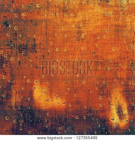 Vintage style designed background, scratched grungy texture with different color patterns: yellow (beige); brown; red (orange); purple (violet); black