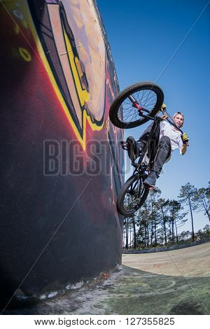 Bmx Bike Stunt Wall Ride