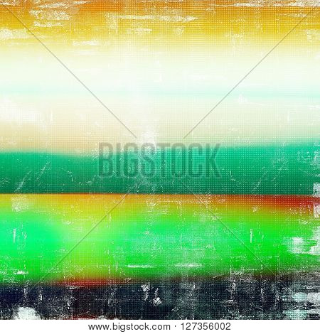 Grunge background or vintage texture in traditional retro style. With different color patterns: yellow (beige); green; red (orange); black; white