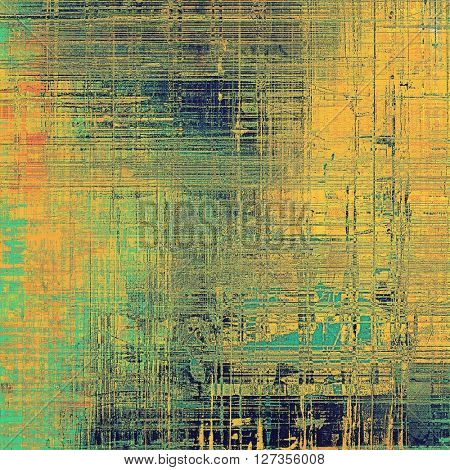 Vintage style designed background, scratched grungy texture with different color patterns: yellow (beige); brown; green; blue; red (orange)