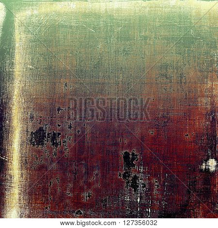 Abstract grunge weathered background of vintage texture. With different color patterns: brown; green; red (orange); gray; purple (violet); black