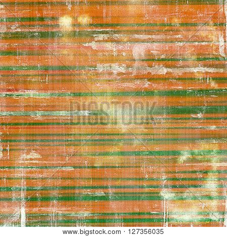 Old style design, textured grunge background with different color patterns: yellow (beige); brown; green; red (orange); white