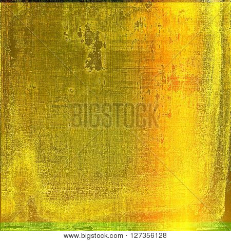 Distressed grunge texture, damaged vintage background with different color patterns: yellow (beige); brown; green; red (orange); black
