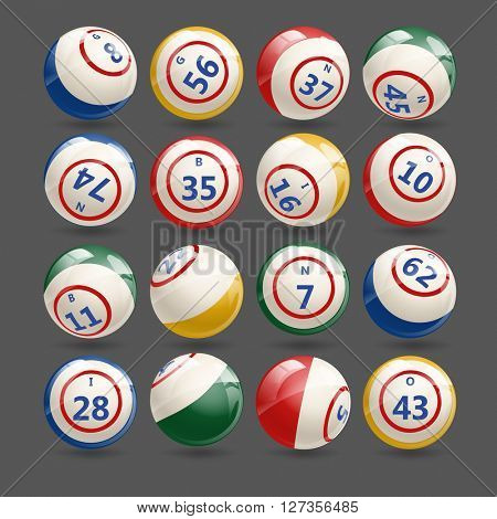 Big Set of Lottery Bingo Keno  Balls
