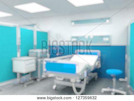 indoor of modern hospital blurred background