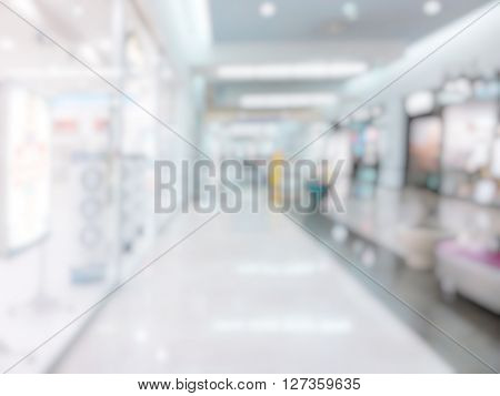 blurred background of commercial centre indoor