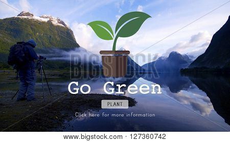 Go Green Gardening Conservation Environmental Concept