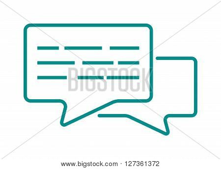 Speech bubble icon communication symbol talk element message chat web vector line art. Bubble icons communication and talk bubble icons element. Outline art bubble icons chatting.