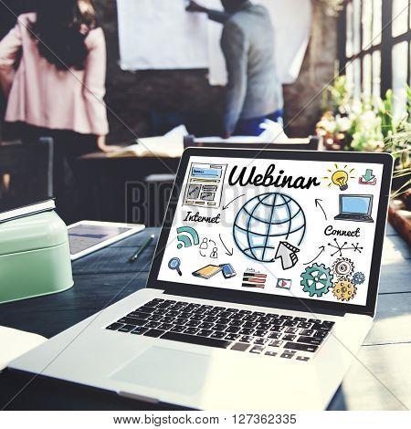 Webinar Online Technology E-Learning Web Concept