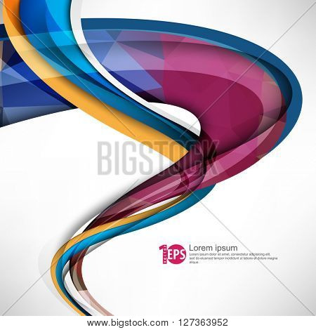 abstract twisting lines abstract material background design. eps10 vector