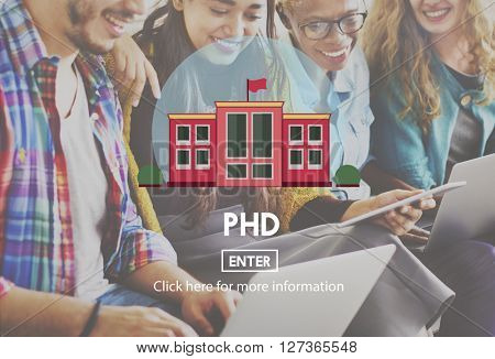 PHD Academic Education Degree Study Concept