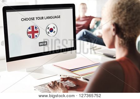 Korean English Language Communication Global Concept