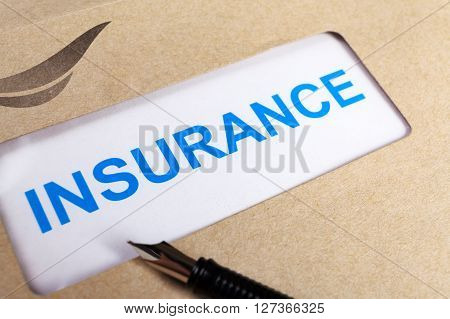 Insurance Claim Form In Brown Envelope, Can Use Insurance Concept