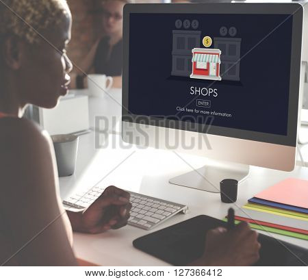Stores Shops Business Opportunity Investment Concept