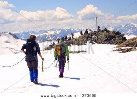 Eis Alpinist Gruppe