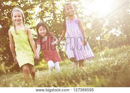 Preschooler Children Play Recreation Friends Concept