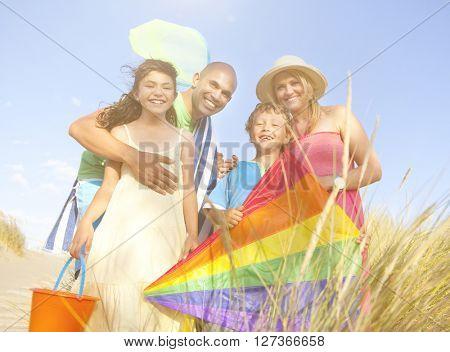 Cheerful Family Bonding Outdoors