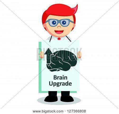 Employee brain upgrade  .eps 10 vector illustration flat design