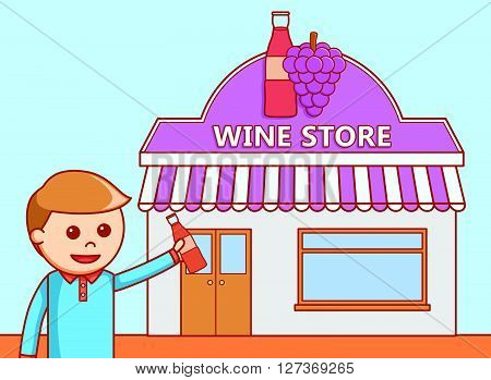 Wine Store collection  .eps 10 vector illustration flat design