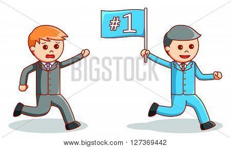 Business man partner competition  .eps 10 vector illustration flat design