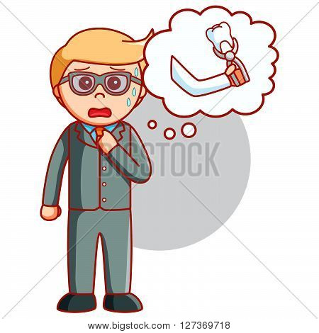 Business man tooth problem  illustration design .eps 10 vector illustration flat design