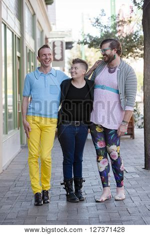 Trio Of Gender Fluid Young People