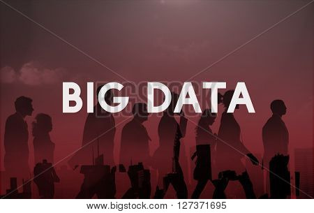 Big Data Information Storage Server Online Technology Concept
