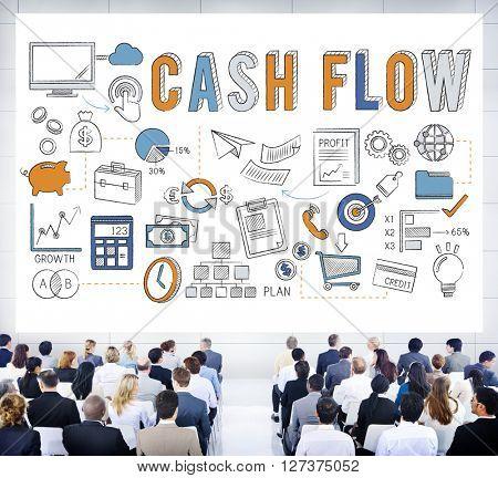 Cash Flow Banking Finance Commerce Business Concept