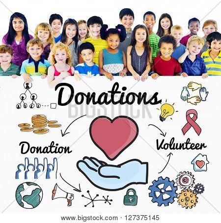 Donations Volunteer Charity Heart Welfare Concept