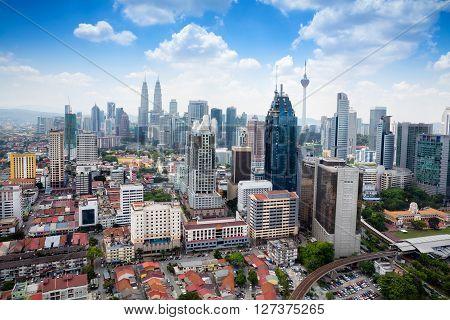 Kuala Lumpur skyline daylight, Malaysia skyline day time