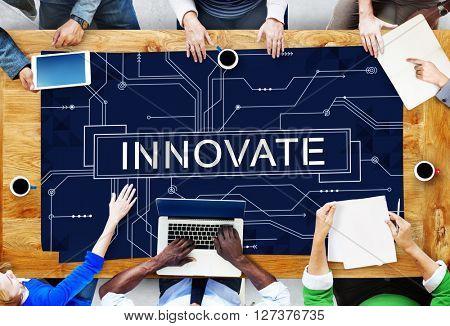 Innovate Technology Circuit Board Futuristic Concept