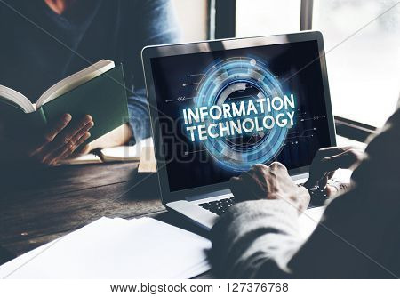 Information Technology Network Cyberspace Electronic Concept