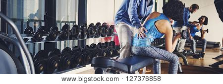 Fitness Gym Hobby Healthy Assistance Active Concept