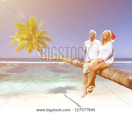 Couple Relaxing on the Beach Concept