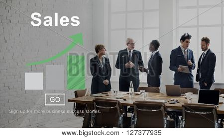 Sales Income Finance Business Commerce Concept