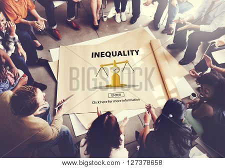 Inequality Imbalance Victims Prejudice Bias Concept