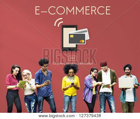 Digital Payment E-commerce Shopping Online Concept