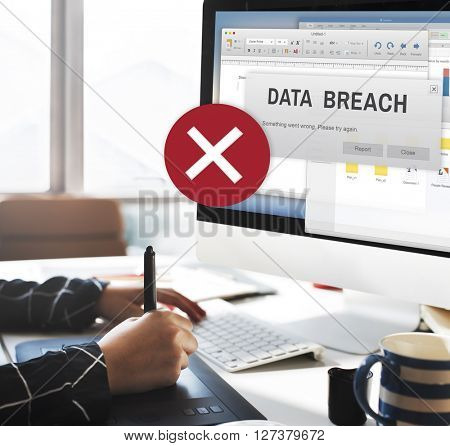 Data Breach Security Confidential Cybercrime Concept