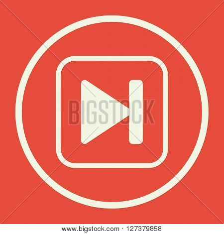 Music Front Icon In Vector Format. Premium Quality Music Front. Web Graphic Music Front Sign On Red
