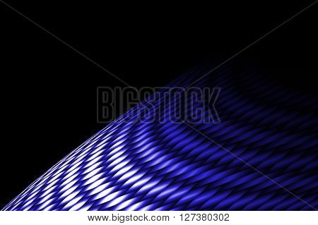blue curve carbon fiber on the black shadow. background and texture.