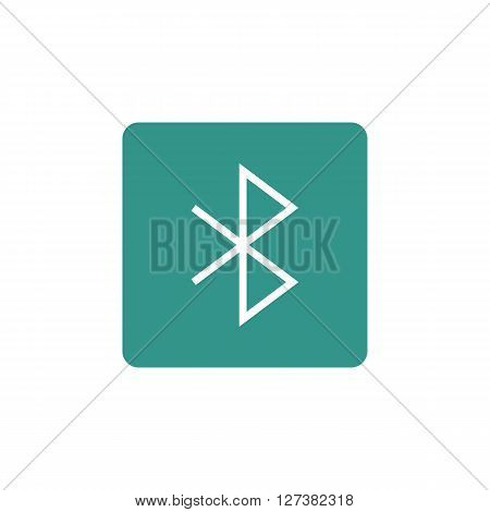 Icon In Vector Format. Premium Quality Bluetooth Symbol. Web Graphic Bluetooth Sign On Gre