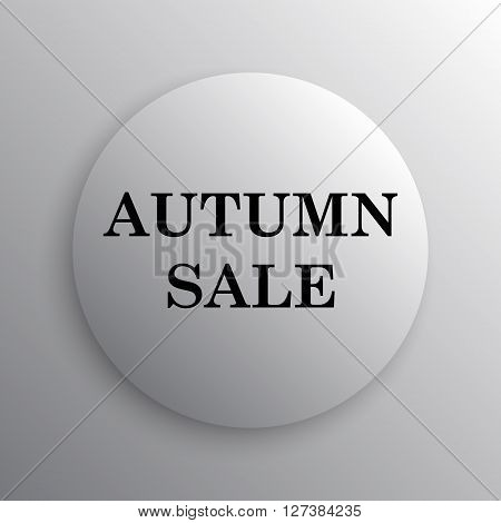 Autumn sale icon. White internet button on white background.