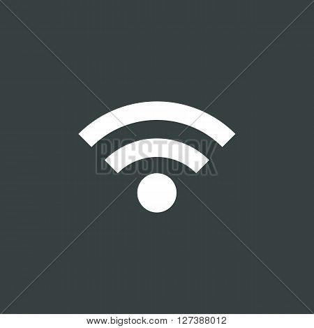 Wifi Icon In Vector Format. Premium Quality Wifi Symbol. Web Graphic Wifi Sign On Dark Background.