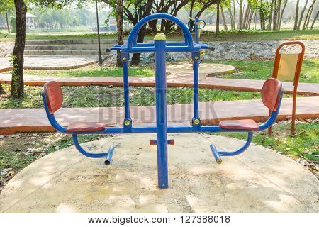 seesaw board in playground for children playing