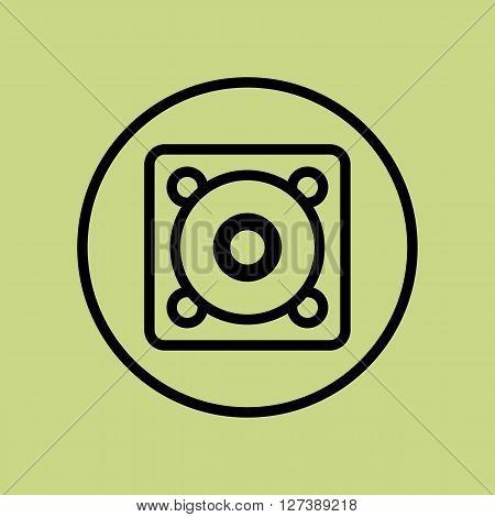 Speaker Icon In Vector Format. Premium Quality Speaker Symbol. Web Graphic Speaker Sign On Green Cir